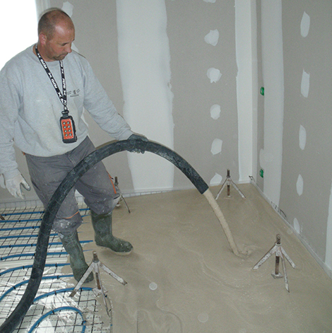 Chape fluide poitiers dans la vienne 86 chape liquide for Mise en chauffe chape liquide